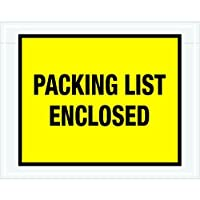 Ship Now Supply SNPL405 Packing List Enclosed Envelopes 7 x 5 1/2 5width 7 Length Yellow (Pack of 1000) [並行輸入品]