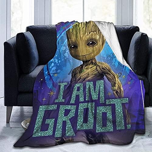 XYQXKG Groot - Manta para niños y niñas (100 x 130 cm)