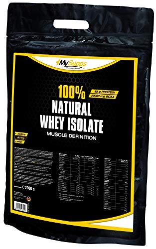 My Supps 100% Natural Whey Isolate - ohne Süßstoffe und Aromen - 100% CFM Whey (2kg)