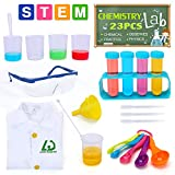Lucky Doug Science Experiment Kit for Kids, 23PCS Lab Coat Scientist Role Play Costume Toys for Kids Pretend Play Dress Up, Christmas Halloween Birthday Party Gift for Boys Girls Kids Ages 3+