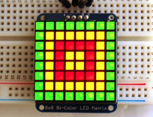 Adafruit quadratisch Pixel Matrix LED mit Rucksack