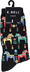 Fun novelty patterns to brighten your day Crew socks Comfortable and fun One pair per pack Fits shoe size 4-10