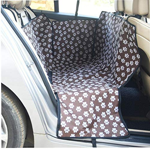Deanyi 1PC Praktische Hundesitzabdeckung wasserdichte Auto-Sitzkissen für Haustiere Autos Fahrzeuge halten die Duse (Kaffee)