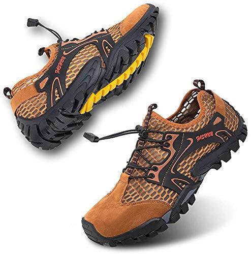 Rokiemen Zapatillas de Trekking para Hombres Sandalias Deportivas al Aire Libre Zapatos de Senderismo Transpirable Secado Rápido Antideslizante