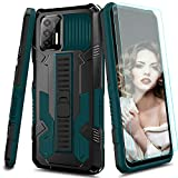 Suordii Case Designed for Motorola Moto G Stylus 2021 with Tempered Glass Screen Protector [2 Pack],Military Grade Full-Body Shockproof Armor Rugged with Kickstandty for Moto G Stylus 2021 - Green