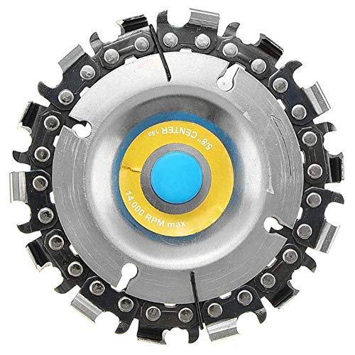 Disco de sierra de cadena de amoladora Disco de tallado de madera de eje de 16 mm para amoladora angular de 100/115 mm 3 piezas 4 pulgadas 14 dientes