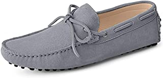 MGM-Joymod Men's Comfortable Lace-up Suede Driving Walking Moccasin Penny Loafers Boat Slip-on Shoes