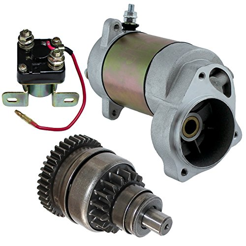 Caltric Starter Drive & Relay Solenoid Compatible With Polaris Xplorer 300 4X4 1995-2000
