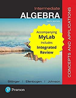 Intermediate Algebra: Concepts and Applications with Integrated Review and Worksheets Plus Mylab Math with Pearson E-Text ...