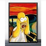 meilishop Wandkunst Die Simpsons Schreien Anime Cartoon