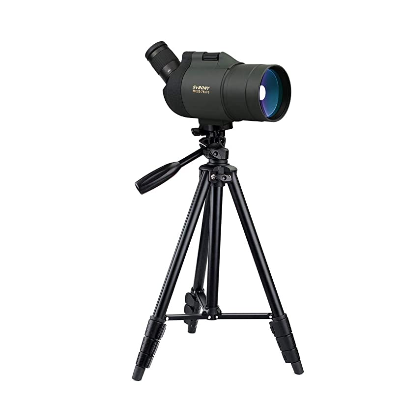 SVBONY SV41 25-75x70 Mini Mak Spotting Scope Compact and Powerful Scope for Target Shooting Travel Telescope Applicable for Both Terrestrial and Astronomical Use Waterproof