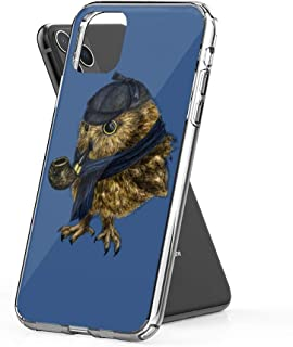 Case Phone Anti-Scratch Cover Creature Animal Sherlock Owl Animals (6.5-inch Diagonal Compatible with iPhone 11 Pro Max)