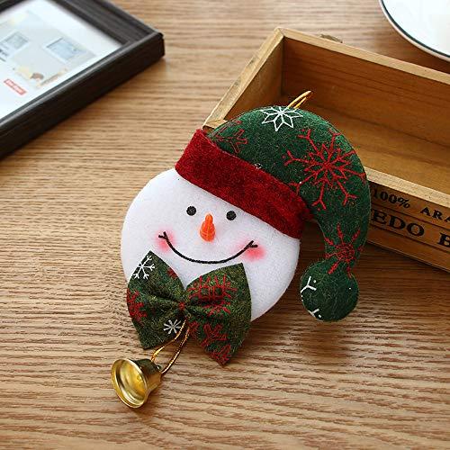 Wffo - Árbol de Navidad para Colgar, diseño de Oso de Papá Noel, decoración de Navidad