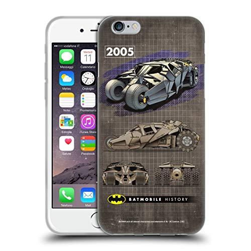 Head Case Designs Oficial Batman DC Comics 2005 Dark Knight Trilogy Historial de batmóviles Carcasa de Gel de Silicona Compatible con Apple iPhone 6 / iPhone 6s