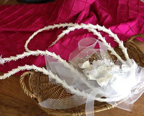 Traditional Wedding Lasso White/Lazos De Boda Tradicional En Blanco