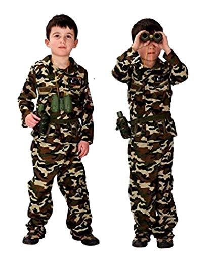 Disfraz militar infantil carnaval camuflaje asalto soldado armado talla l 7/9 años