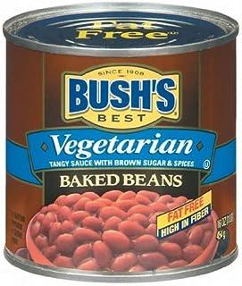 Bush's Best Vegetarian Fat Free Baked Beans 16 Oz (Pack of 6)