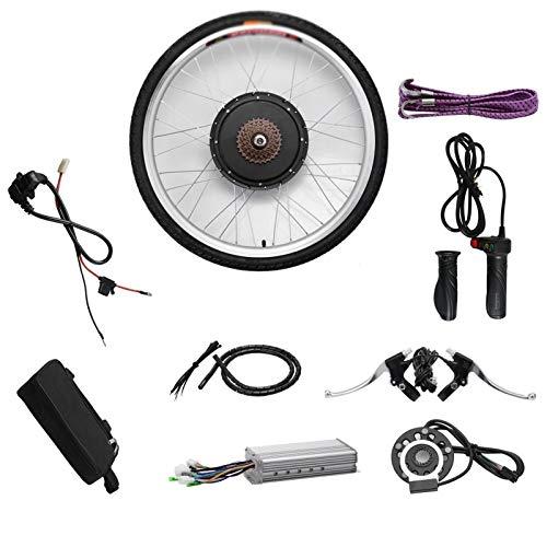 CRMY 48V 1000W Kit de conversión de Bicicleta electrónica Motor sin escobillas Control de Cubo Kit de conversión de Bicicleta eléctrica Ruedas Delanteras/traseras Controlador de Velocidad