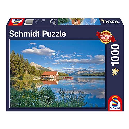 Schmidt spel puzzel 58334 - een weekend aan het meer, 1.000 delen puzzel