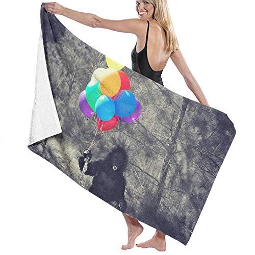 Toallas de Playa Altamente Absorbente,Gorila Disfraz Globos Persona Halloween Mono Mono AnimalToallas de bao Secado rpido para Uso Diario,80x130cm