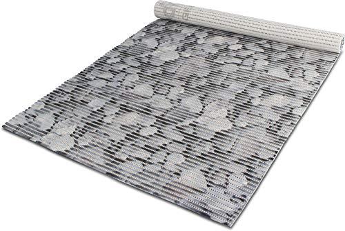 normani/Gear Up 65 oder 130 cm breiter Badvorleger/rutschfeste Matte/Bodenbelag aus PVC Weichschaum,wasserabweisend und rutschhemmend für Bad, Dusche oder Küche Farbe Greystone Größe 130 cm x 200 cm