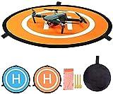 QianChen 55cm Landing Pad Drone Hélicoptère Parking Tablier Piste Décollage Atterrissage Hélisurface Pad Facile à Plier pour DJI Mavic 2 Pro / Mavic 2 Zoom / Mavic Air / Mavic Pro / Platinum / Spark