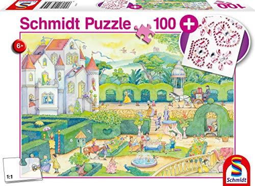 Puzzle Infantil de 100 Piezas, diseño de Princesas de Cuento de Hadas, Incluye Pegatinas Brillantes, Color carbón (56329)