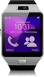 "MEMTEQ? Reloj inteligente con Bluetooth 1,54"", pantalla táctil con cámara de 1,3MPS para teléfono Andorid Samsung/HTC/LG/Huawei/ZTE plata..., color Argent Nouvelle Version"