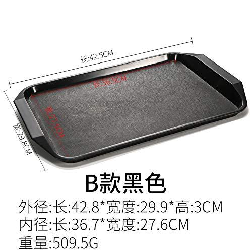 GYZBY Tablett Rechteckigen Kunststoffplatte Burger Laden Tablett Kommerziellen Fast-Food-Geschirr 42,5X29,8X3Cm