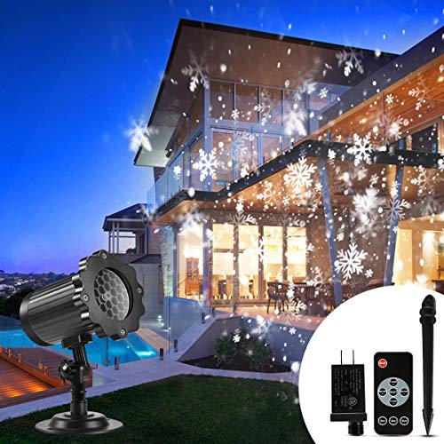 Christmas Projector Lights Outdoor, B-right Snowflake Projection Lights Waterproof LED Christmas...