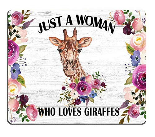Yellow Giraffe Mouse Pad Cute Animal Mousepad Womens Desk Accessories Office Supplies Gift for Coworker Funny A129