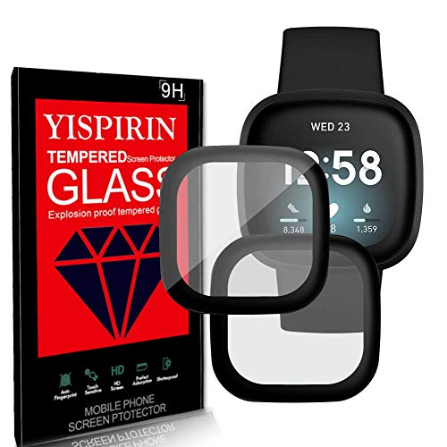 YISPIRIN (2 Pack)3D Full Glue Acrylic Glass (PMMA) Screen Protector, compatible with Fitbit versa3 /sense