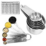 Measuring Cups, Measuring Spoons 18/8 Stainless...