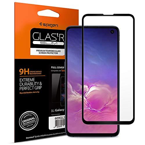 Spigen, Verre trempé Samsung Galaxy S10e, Couverture complète, Compatible avec Les Coques, Easy-Install Kit, Extreme Résistant aux Rayures, Protection écran Samsung S10e