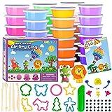 SOGUYI Plastilina Arcilla 36 Colores Polimerica para Modelar Secado al Aire Arcilla mágica Suave y elástica en Caja sellada, Regalo de Manualidades para niños y niñas de 3 a 12 años
