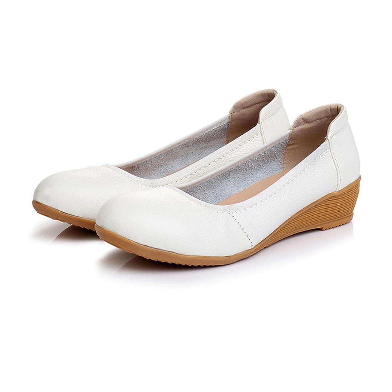 [サニーサニー] ナースシューズ パンプス 婦人靴 フラットシューズ ローヒール 柔らかい 歩きやすい 疲れない クッション性 スリッポン 滑り止め 可愛い 軽い 痛くない 安定感抜群 屈曲性 安定感 ブラック 3色 ウェッジソール
