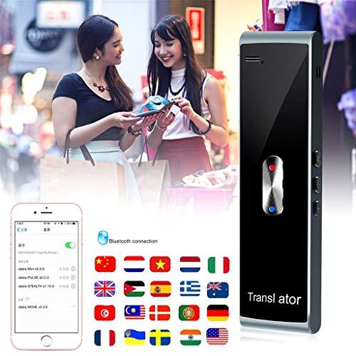 TYXTYX Traducción de Voz Inteligente, Traducción Instantánea Instant Translator, Admite 72 Idiomas,preciso Chat de Negocios Inteligente Extranjero,Negro