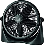 Genesis A3FLOORFANBLACK Adjustable 360 Degree Table Floor Fan, 16', Black