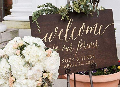 Rustic Wood Wedding Sign Make Your Day More Special Last Name Wedding Welcome Sign