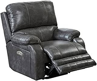 764762-7-1152-78/1152-78 Catnapper Thornton Power Layflat Recliner With Power Headrest and Power Lumbar Support (Steel) Free Curbside Delivery