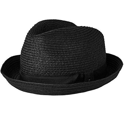 Insignia de la marca unida al lateral La copa del sombrero mide 11 cm Información sobre las tallas y medidas del sombrero: Disponible en 58cm. El ala del sombrero mide 4.5 cm
