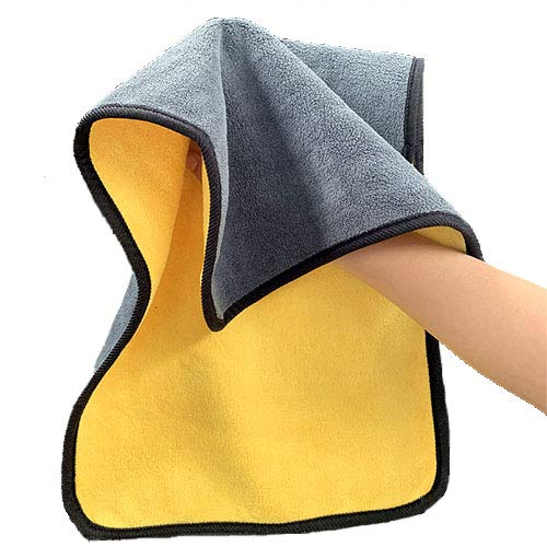 2 toallas Wwash toalla de secado toalla de coche, toalla extra gruesa, toalla de limpieza, toalla de microfibra, 30 x 60 cm