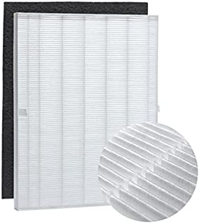 Nispira True HEPA Filter Replacement and Carbon Pre Filter Compatible with Winix 115115 PlasmaWave Size 21. Fits Model WAC5300, WAC5500, WAC6300, 5000, 5000b, 5300, 5500-2, P300, C535