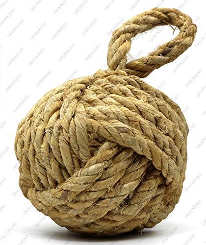 5MOONSUN5's Marseille Monkey Knot Jute Rope Door Stopper Handmade Rope Jute (4 lbs) - Jute