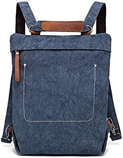 Touring Convertible Backpack in Hand-Dyed Canvas Transforms Into Tote Or Messenger Bag Versatile Durable and Perfect for Travel
