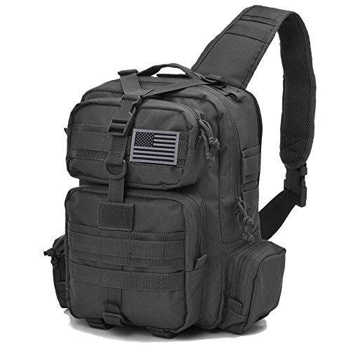 REEBOW TACTICAL Sling Bag Pack Military Sling Backpack Assault Range Bag