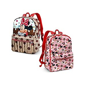 515hzF7MsIL. SS300  - Karactermania Minnie Mouse Muffin Mochila Infantil, 40 cm, Marrón