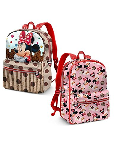 Karactermania Minnie Mouse Muffin-Reversible 2-in-1 Backpack Zainetto per bambini, 40 cm, 13 liters, Marrone (Brown)
