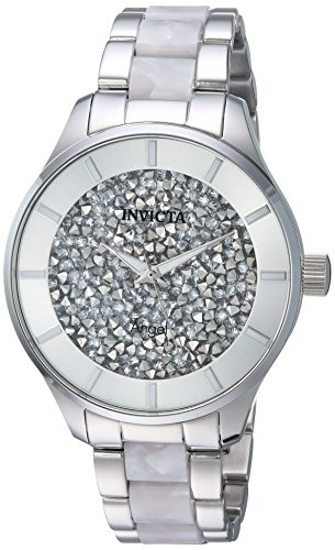 Invicta 24667 Women's Angel White Crystal Accented Silver Dial Two Tone Bracelet Watch