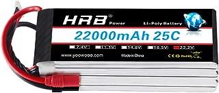 HRB 22000mAh 25C 6S 22.2V LiPo Battery Pack for DJI S800 S900 S1000+ UAV Drone RC Multicopter E1200 (AS150+XT150)